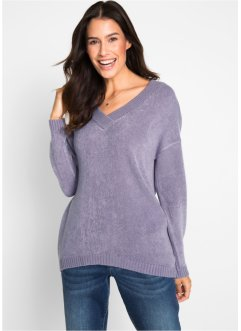 Oversize-Pullover mit tiefem V-Neck, bpc bonprix collection