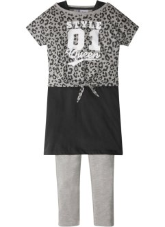 Boxy Shirt + Kleid + Leggings (3-tlg.), bpc bonprix collection