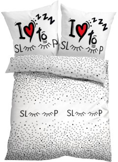 Bettwäsche mit Sleep Statement Druck, bpc living bonprix collection