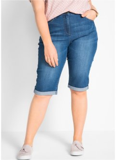 Stretch-Jeans-Bermuda mit Bequembund, bpc bonprix collection