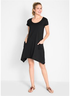 Baumwoll Flammgarn-Shirtkleid mit Kurzarm, bpc bonprix collection