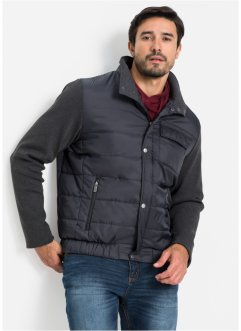 Herren Steppjacke mit Ärmeln in Strickoptik, bpc selection