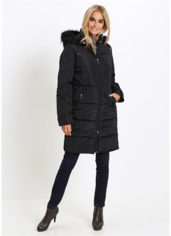 Steppmantel mit Fellimitatkapuze, bpc selection