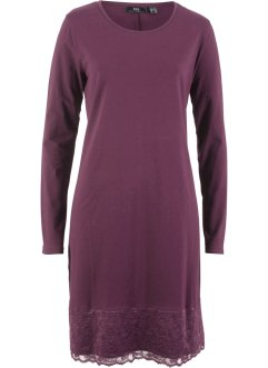 Shirt-Kleid mit Spitze, Langarm, bpc bonprix collection