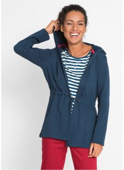 Sweat-Cardigan mit Kapuze, bpc bonprix collection