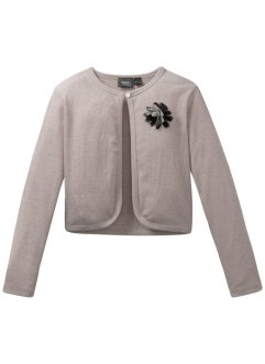 Glitzer-Shirtjacke mit Blume, bpc bonprix collection