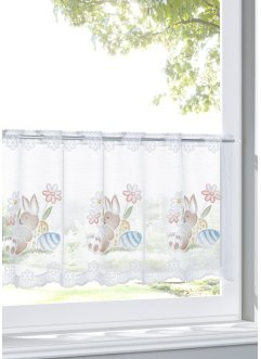 Jacquard Scheibengardine mit Osterhasen, bpc living bonprix collection