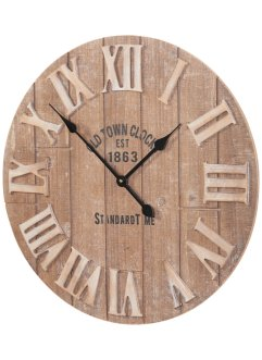 Wanduhr aus Holz, bpc living bonprix collection