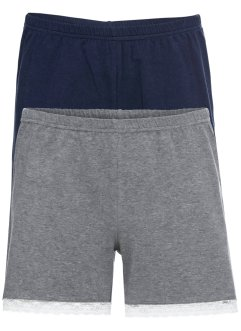 Schlaf Shorts mit Spitze (2er-Pack), bpc bonprix collection