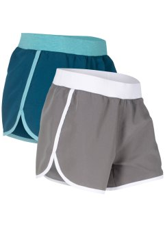 Microfaser-Sport-Shorts (2er-Pack), bpc bonprix collection