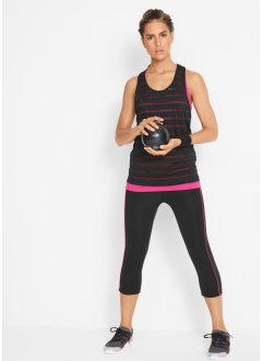 Sport 2-in-1 Top mit Funktions Capri Leggings im Set, bpc bonprix collection