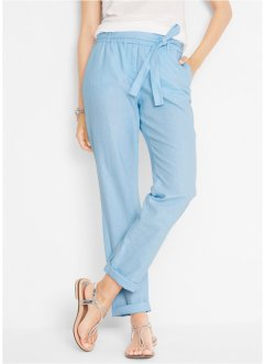 Leinenhose mit Bindeband, bpc bonprix collection
