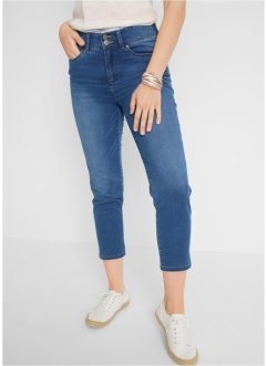 7/8 Push-up Stretchjeans mit Schlitz, Straight, bpc bonprix collection