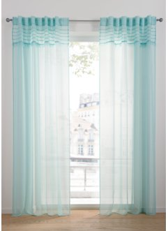Transparente Gardine mit Fransen (1er Pack), bpc living bonprix collection