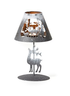 Teelichthalter in Lampen-Form aus Metall, bpc living bonprix collection