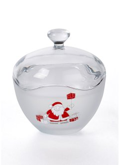 Glasdose mit Santa Motiv, bpc living bonprix collection