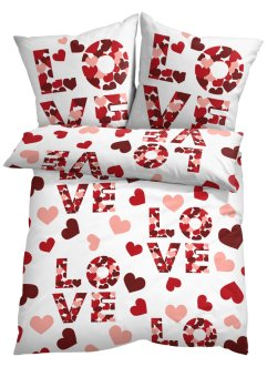 Bettwäsche mit Love Statement, bpc living bonprix collection