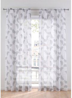 Transparente Gardine mit Blätter Druck (1er Pack), bpc living bonprix collection