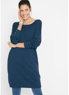 Feinstrick-Kleid mit Knopfdetail, bpc bonprix collection