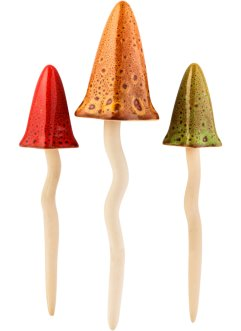 Deko-Figur Pilze (3-tlg.Set), bpc living bonprix collection