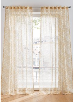 Halbtransparente Gardine mit Druck (1er Pack), bpc living bonprix collection