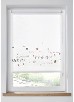 Sichtschutzrollo mit Kaffee Motiven, bpc living bonprix collection