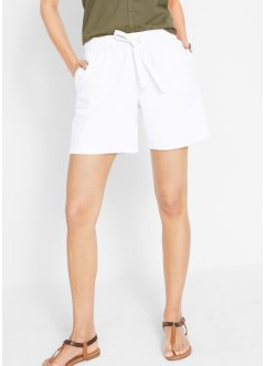 Leinen-Paperbag-Shorts mit Bindeband, bpc bonprix collection