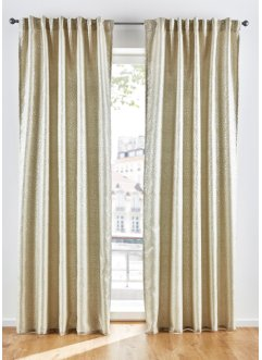 Jacquard Vorhang mit Glanzeffekt (1er Pack), bpc living bonprix collection