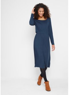 Shirtkleid mit Karee-Ausschnitt, tailliert, bpc bonprix collection