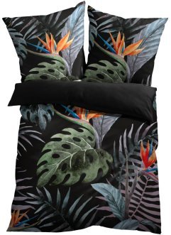 Wendebettwäsche mit Monstera Blätter, bpc living bonprix collection