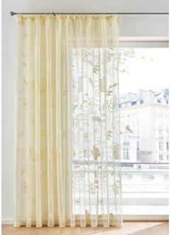 Jacquard Gardine mit Blumen, bpc living bonprix collection