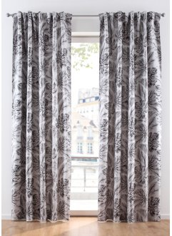 Jacquard Vorhang mit Blättern (1er Pack), bpc living bonprix collection
