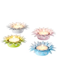 Teelichthalter im Blumen-Design (4er Pack), bpc living bonprix collection