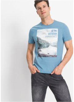 T-Shirt aus Bio Baumwolle, Slim Fit, RAINBOW