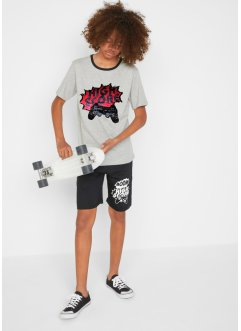 Jungen Shirt mit Wendepailletten und kurze Hose (2-tlg.Set), bpc bonprix collection
