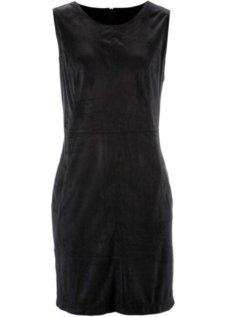 bfa08ab85e7 Attraktives Kleid aus Velourslederimitat - schwarz
