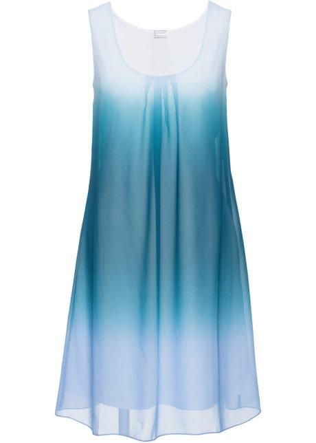 Feminines Kleid in auffälliger Batik-Optik - batik mittelblau blaupetrol 5ba423dc92