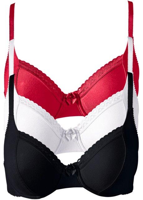 ea4ab5a612e826 Traumhafter BH aus Bio-Baumwolle mit edler Spitze - weiß+rot+schwarz ...