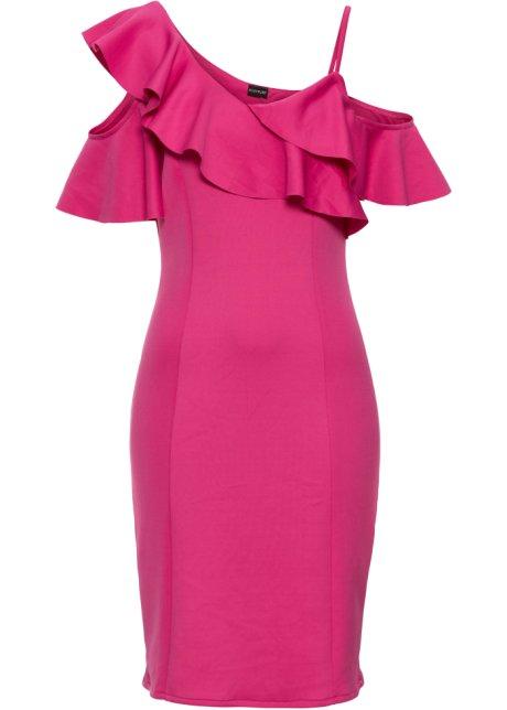 Kleid mit Volant kurzer Arm in lila von bonprix Bonprix rMVUDX