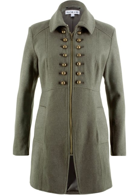 Mantel damen oliv
