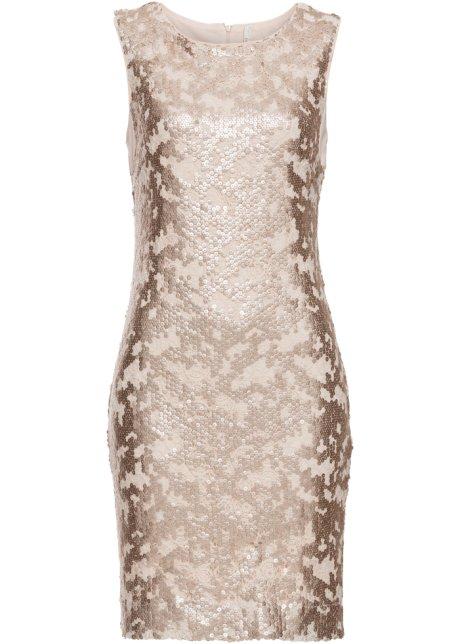 kaufen bonprix Pailletten Kleid gold mit online at JT1lKc3uF