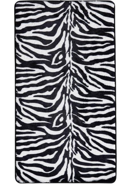 Besonders Saugfahige Badematte Zebra Im Schonen Design Schwarz Weiss