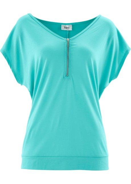 2018 Neuesten Zum Verkauf Spielraum Online Amazon Kurzarm-T-Shirt mit Reißverschluss in schwarz von bonprix Bonprix Billig Verkaufen Große Überraschung FCl8NX
