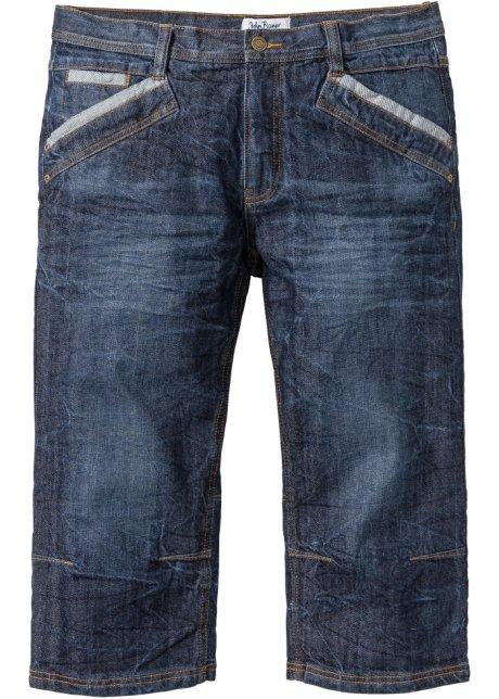 Markante Jeans in 3 4-Länge und Knitteroptik mit Kontrasteinsätzen ... 34e6bd4b16