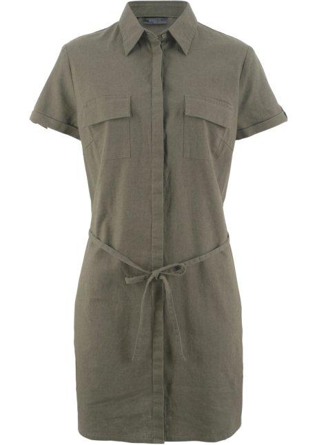 bon prix blusenkleid aus leinen