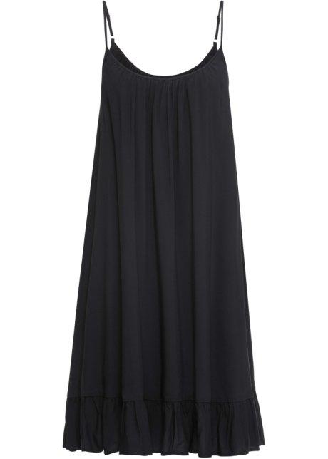 9b5195af0e8 Weites Hängerchen-Kleid mit Volant - schwarz