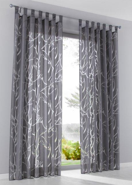 """Vorhang Grau Muster ein echter lichtblick: die gardine """"roya"""" mit tollem muster - grau"""