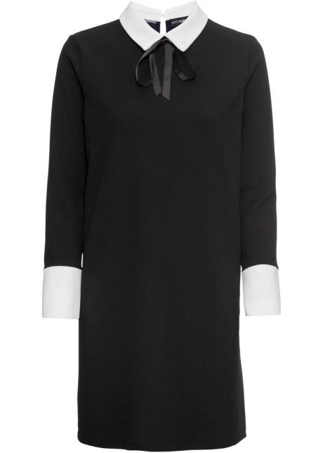 a4a9daade799 Kleid mit Kragen und Schleife schwarz - BODYFLIRT - bonprix.at