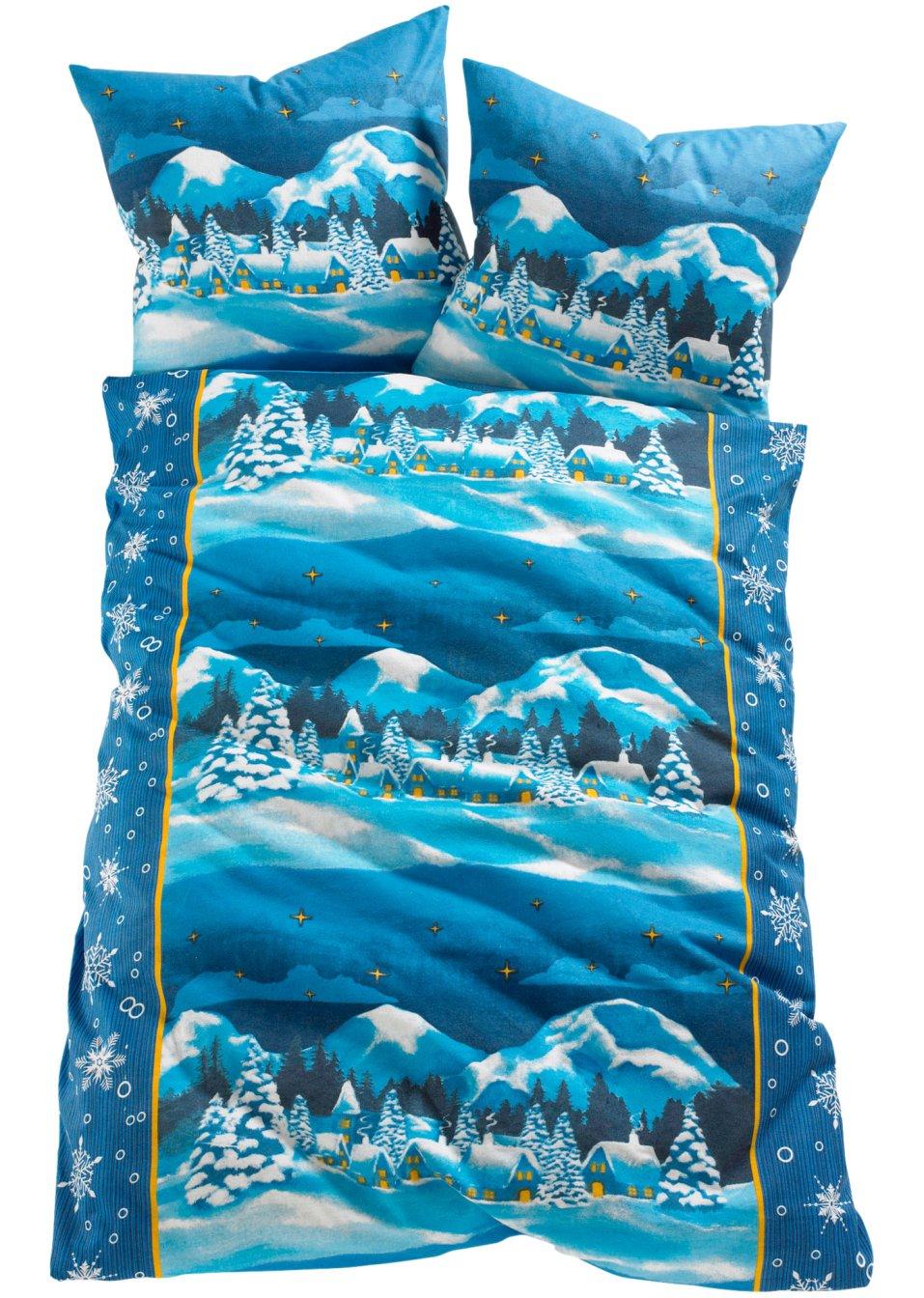 tirol ist eine tolle bettw sche mit sch nem landschaftsmotiv blau linon. Black Bedroom Furniture Sets. Home Design Ideas