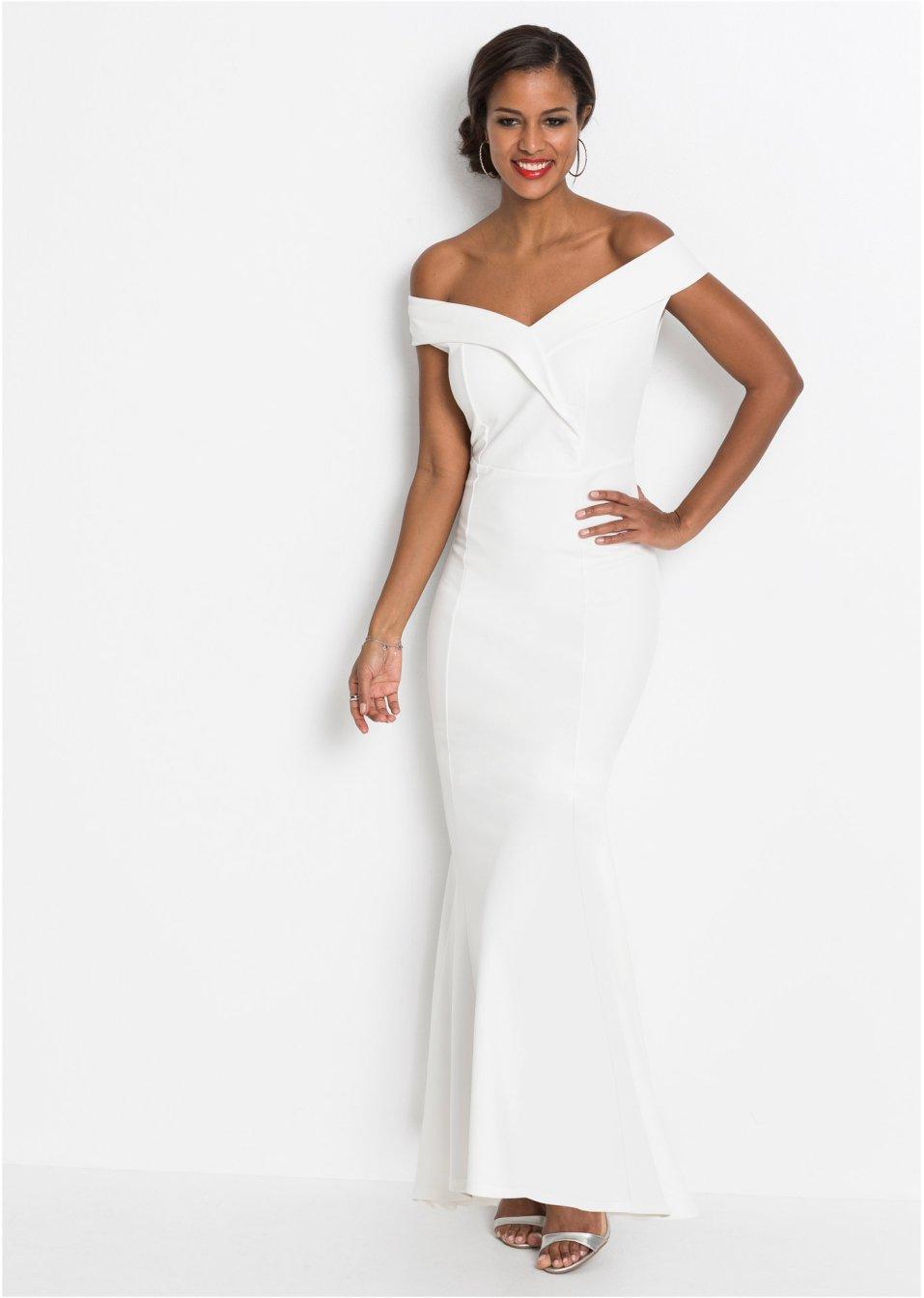 Carmen-Kleid weiß - BODYFLIRT boutique online kaufen ...